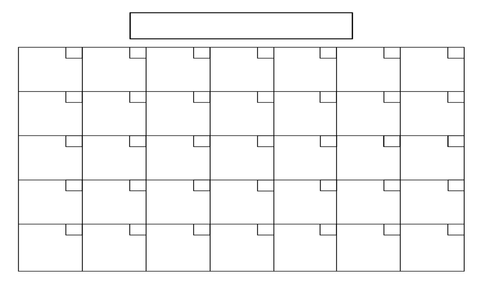 Unique Printable Full Page Calendar | Free Printable pertaining to Full Page Blank Calendar