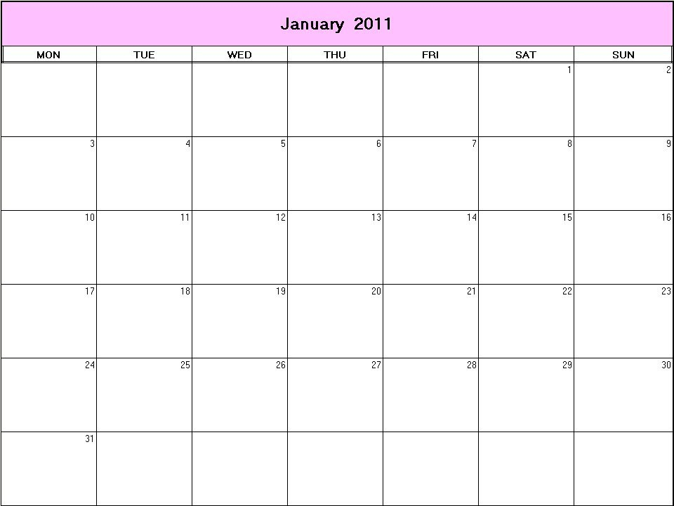 Unique Printable Full Page Calendar | Free Printable with regard to Full Page Blank Calendar