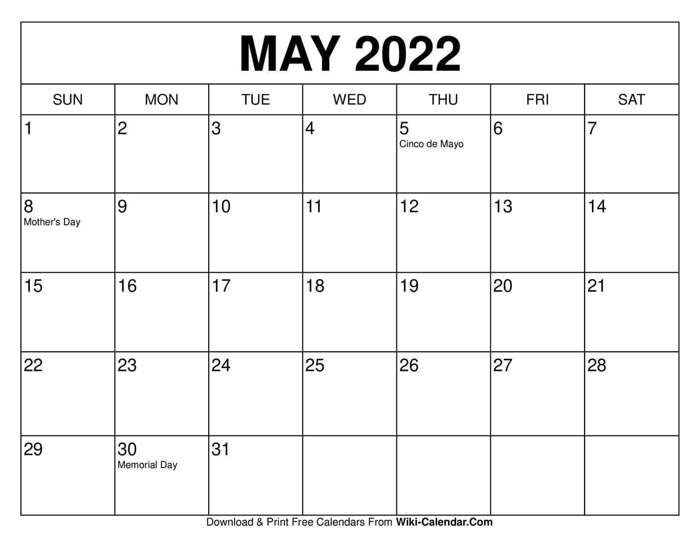 Universal Blank 30 Day Calendar Starting May 24 In 2020 regarding 30 Days Calendar Template