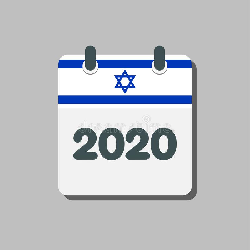 Vector Icon Calendar Year 2020, Year In Israel Stock intended for Year Calendar Icon