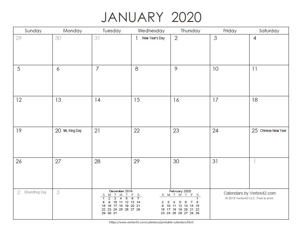 Vertex42 3 Month Photo | Calendar Template 2020 regarding Printable Three Month Calendar