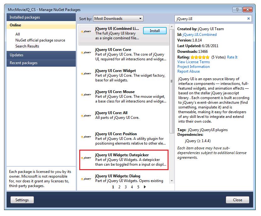 Verwenden Des Html5 Und Jquery Ui Datepickerpopup Kalenders Mit Asp Mvcpart 4 | Microsoft Docs for Net Mvc Calendar