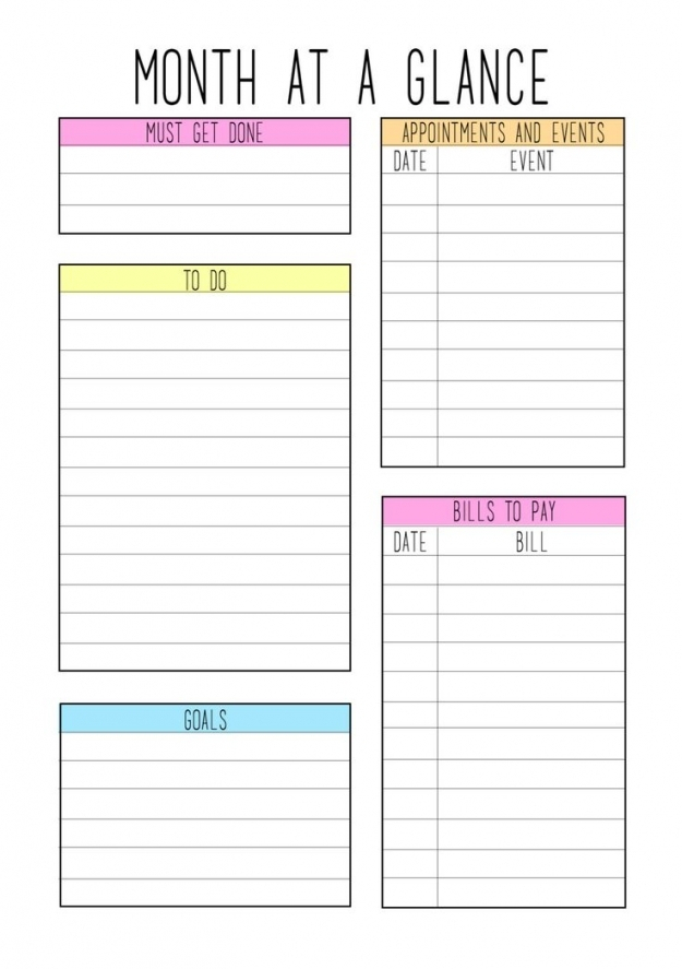 Week At A Glance Template   Free Letter Templates inside Year At A Glance Calendar Template