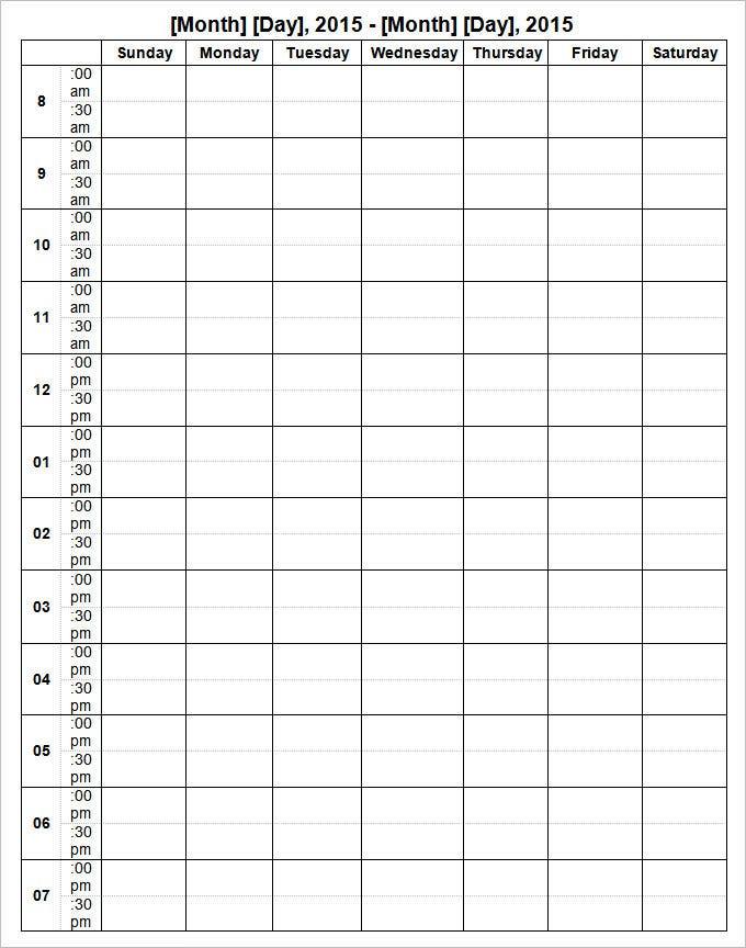 Week Calendar Template  12+ Free Word Documents Download in 12 Week Planner Template
