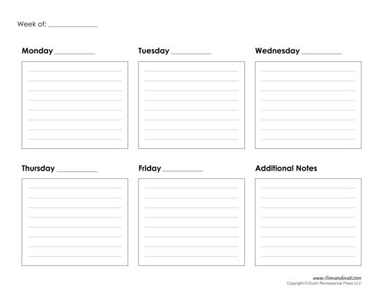 Weekly Calendar Printable inside Two Week Calendar Template Word