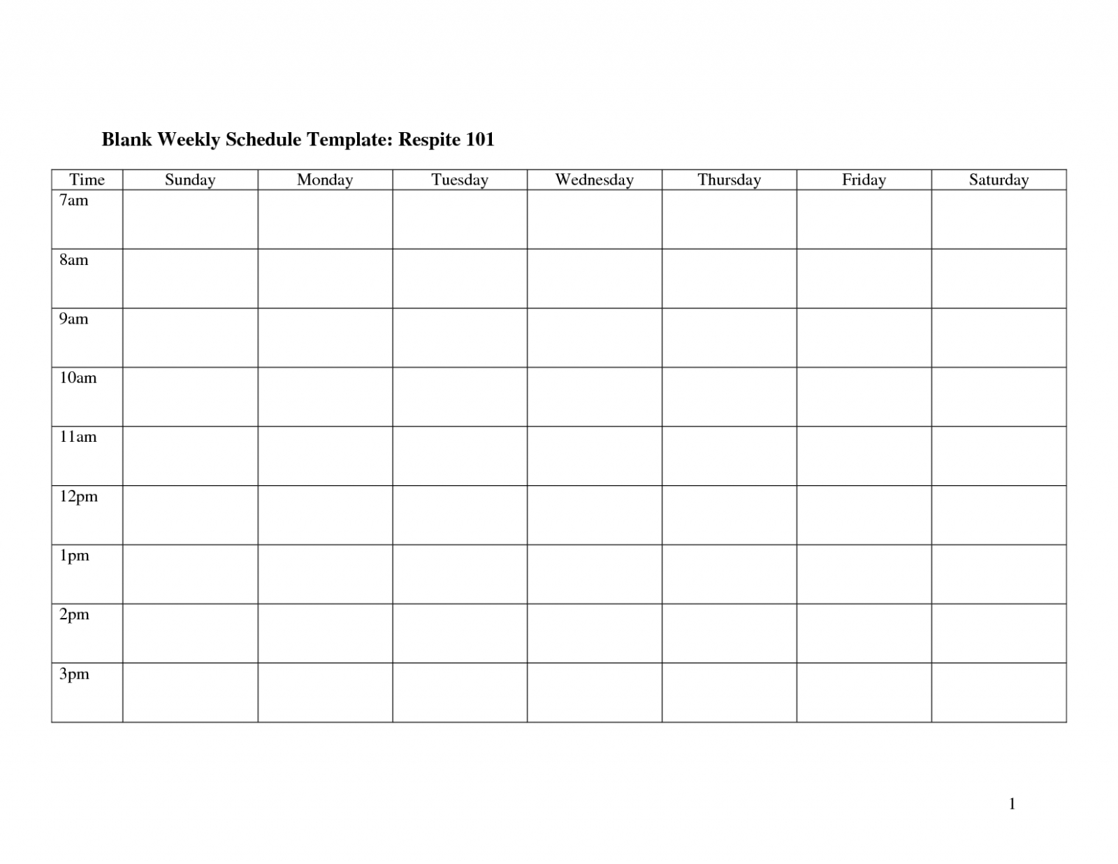 Weekly Calendar Template Monday To Friday | Example intended for Blank Monday Through Friday Calendar