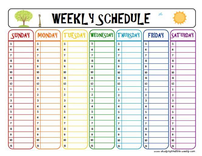 Weekly Schedule Printable  Task List Templates intended for Two Week Calendar Template Word