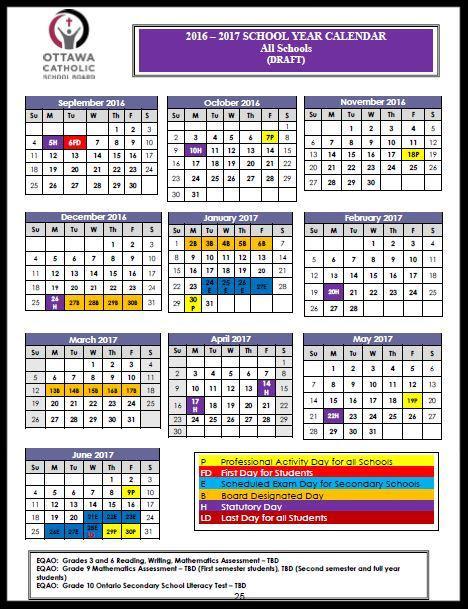 Whispersintheloggia: School Calendar 201617 Update with regard to Ocsb School Year Calendar