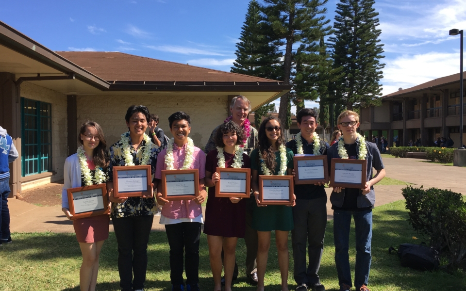 Winning Projects  Maunakea Scholars inside King Kekaulike High School Calendar