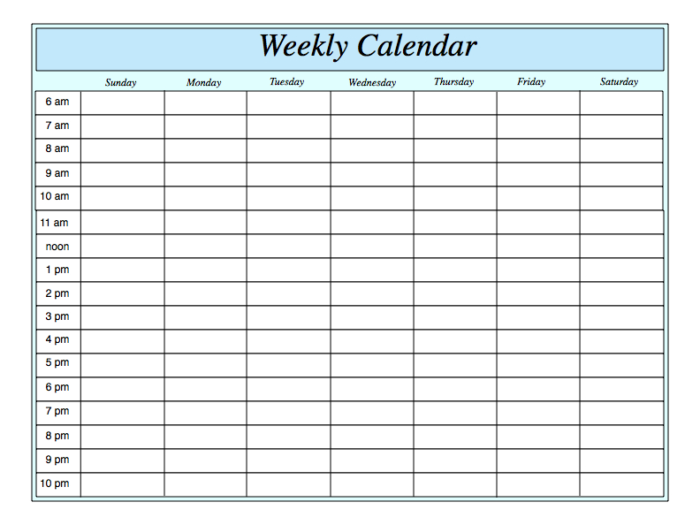 Word Calendar Template With Time Slots One Checklist That with regard to One Week Calendar Template Word