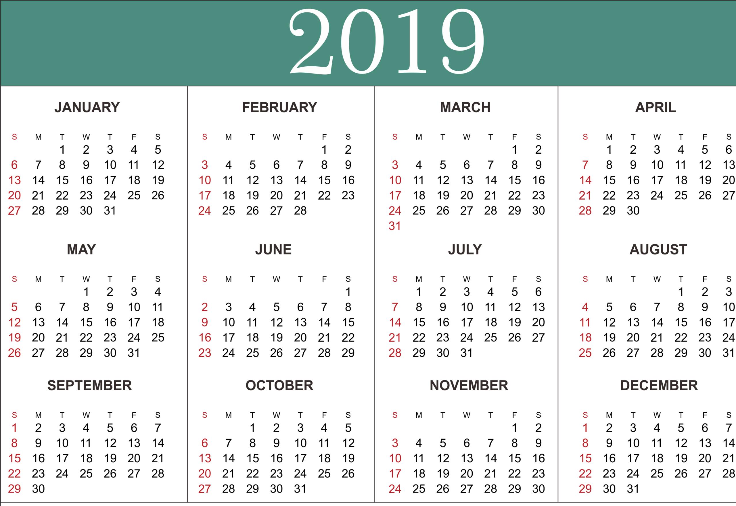 Year Calendar Free Printable | Calendar Printables Free regarding Printable Blank Calendar Template