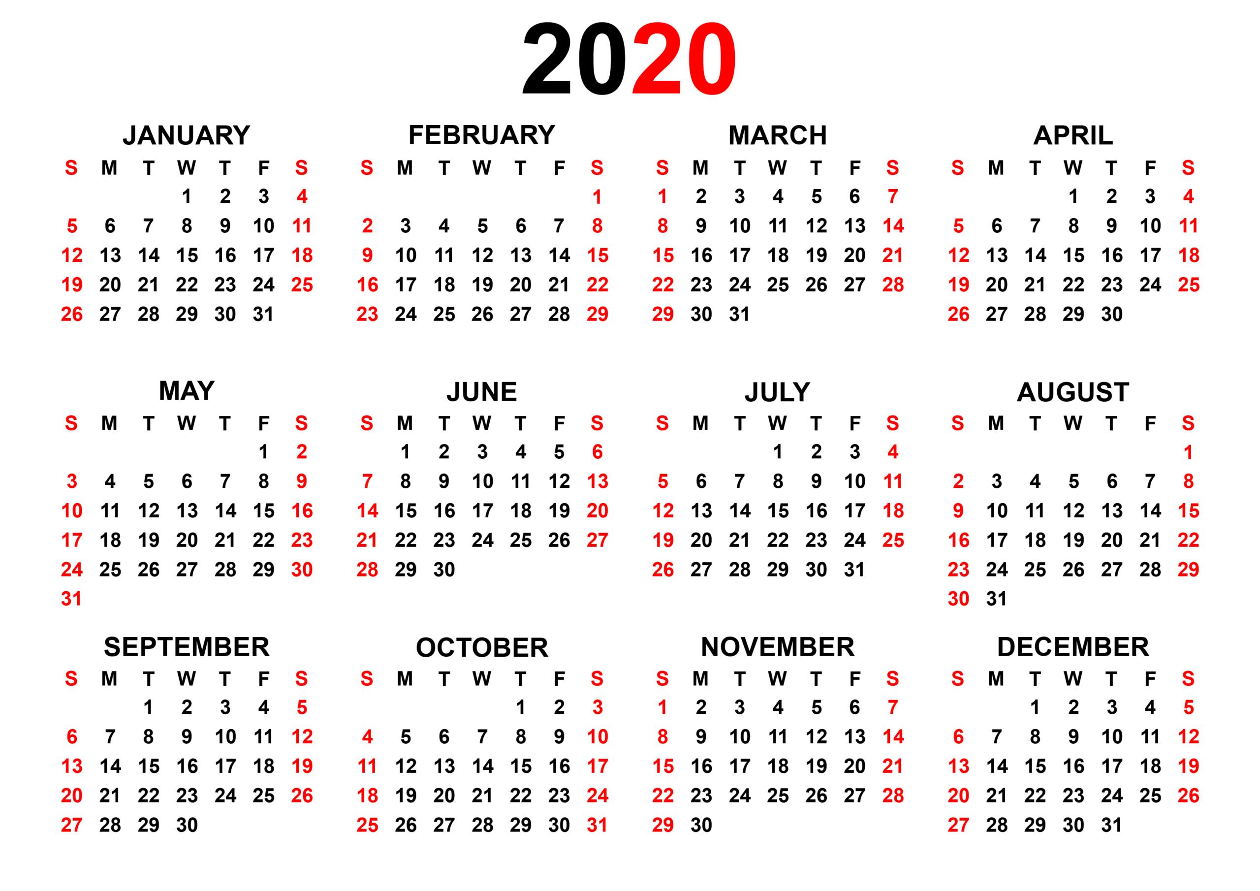 Yearly Calendar 2020  Make Our Schedule | Betacalender4U regarding Most Goals Calendar Year