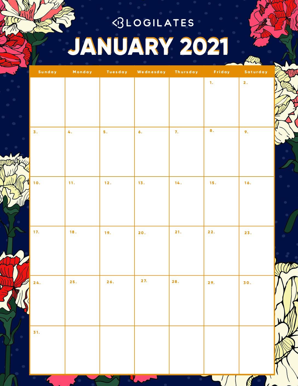 Your Free 2021 Printable Calendars Are Here! | Blogilates inside Blogilates September Calendar